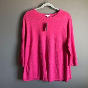 J Jill Pin Watermelon Sweater Size Large NWT
